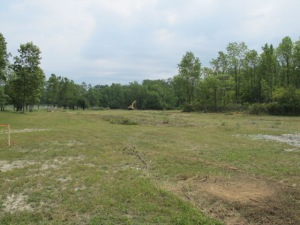 July 28, 2010 - the project area at the beginning of construction - not very impressive, is it?