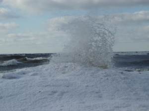 Ice volcanoes erupt at Evangola State Park, by Dave McQuay