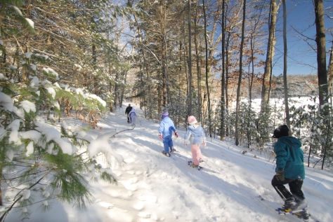 Moreau State Park Snowshoe Hike
