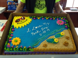 I Love My Park Day cake at Fair Haven Beach State Park.