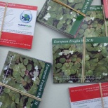 AIS watch cards and other educational materials are available at the Boat Steward stations. Photo courtesy of OPRHP.