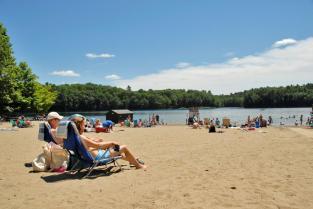 Moreau Beach in the Saratoga-Capital Region.