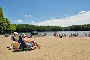 Moreau Beach in the Saratoga-Capital Region.
