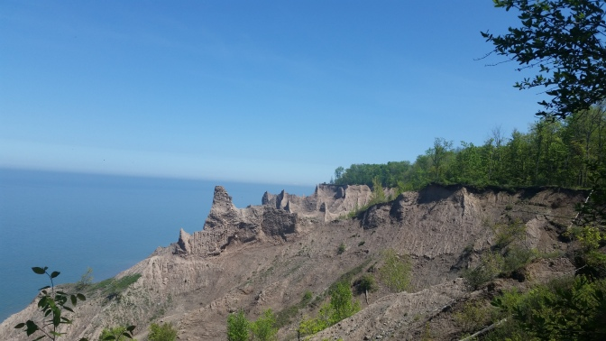 Geology Exposed at Chimney Bluffs State Park