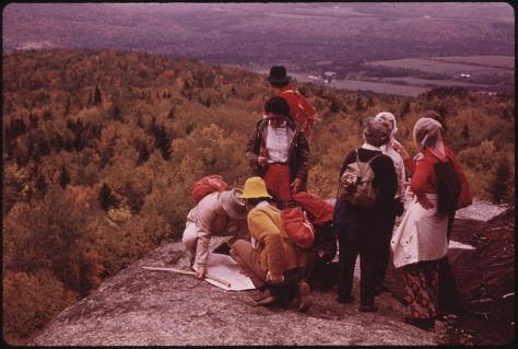 Adirondack Mountain Club hikers atop Mt. VanHoevenberg. Source: WikiCommons.