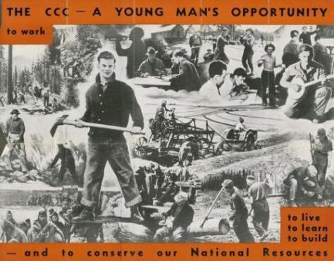 Promotional poster for the CCC. Source: http://www.rootsweb.ancestry.com/~wvcccfhr/history/3ccc.htm.