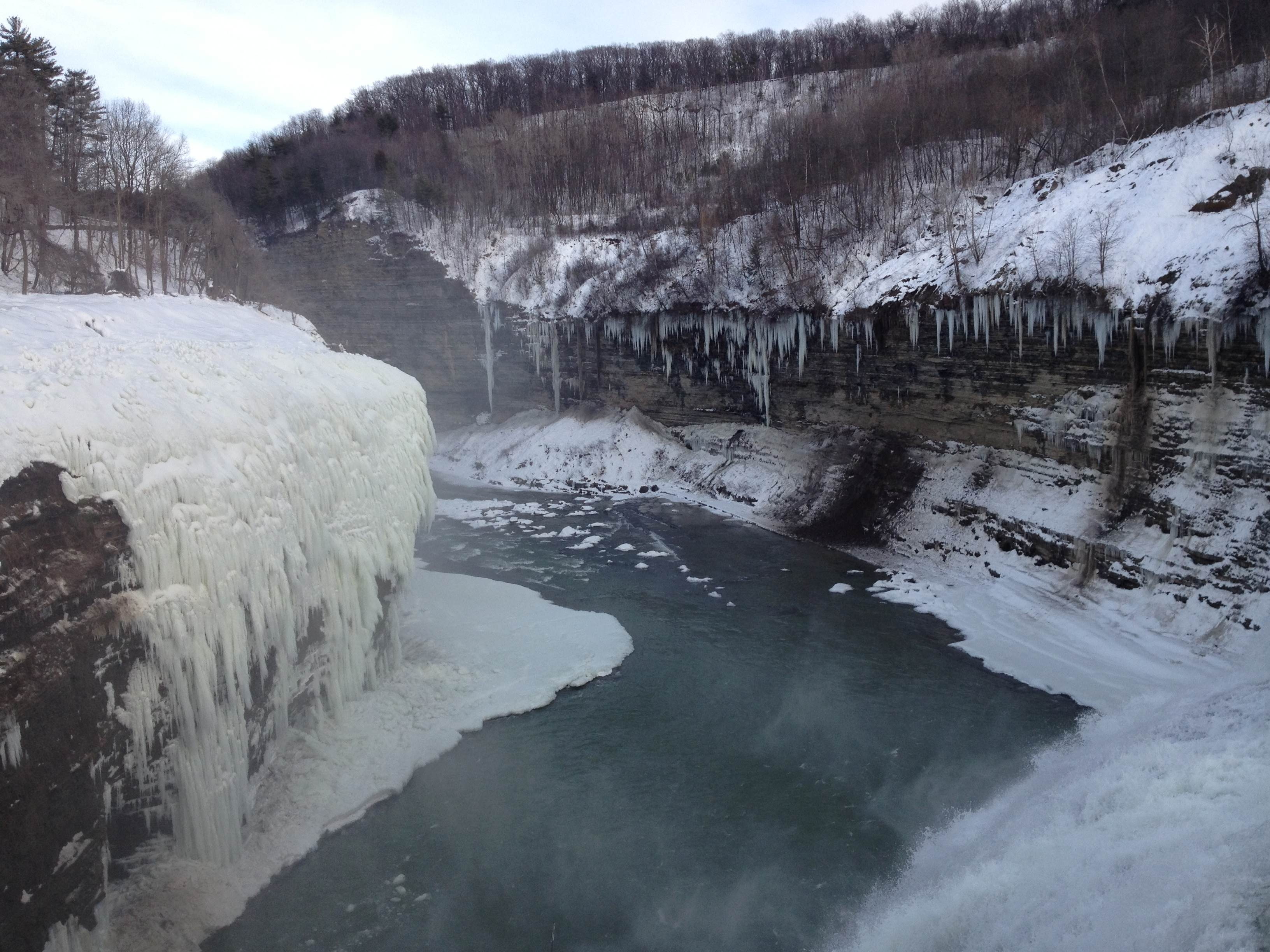 2013 letchworth falls downstream winter