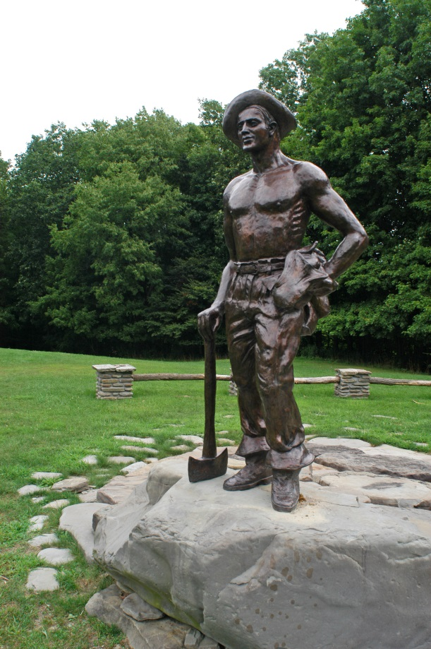 CCC Statue, Letchworth State Park, OPRHP photo