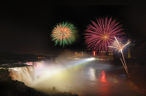 Fireworks at Niagara Falls State Park. Photo courtesy of OPRHP.