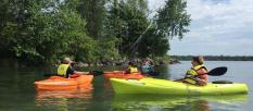 Kayaking group, photo by Tina Spencer, State Parks