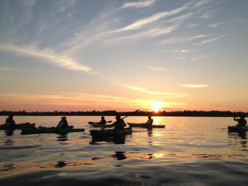 Sunset on the Niagara River, photo by Tina Spencer, State Parks