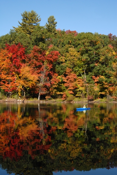 Kayaking in the Fall - Moreau State Park