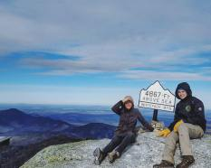 Marlena and Rebecca at the Summit of Whiteface Mountain, photo by Michaela Aney