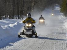Snowmobiling is always fun with friends!
