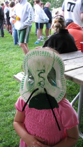 There was fun for all at an ISAW event last year at Allegany State Park, where kids made emerald ash borer masks. Photo by State Parks