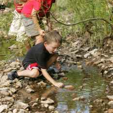 Stream exploring, hoto by U.S. Fish and Wildlife Service