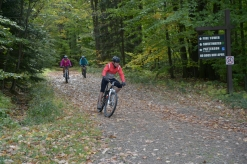 Biking along the trails at Allegany, photo by State Parks