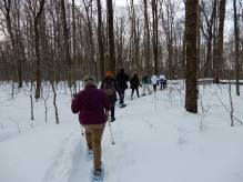 Try your hand at snowshoeing during a snowshoe program, photo by State Parks