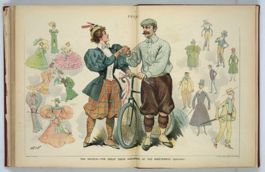 The Bicycle--the Great Dress Reformer of the Nineteenth Century, Puck, August 1896, Library of Congress, Division of Prints and Photographs