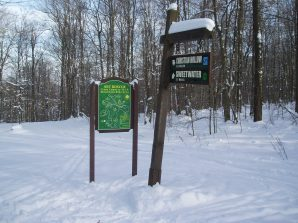 Art Roscoe Trail entry at Allegany State Park