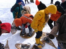 Snowshoe lesson, photo by State Parks.