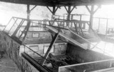 Exhibit cases, image courtesy of Allegany State Park Historical Society.
