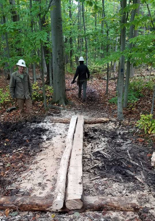 Trail Work: Excelsior Conservation Corps Helps out at Hamlin Beach State Park