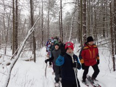 Snowshoeing is fun for all ages.